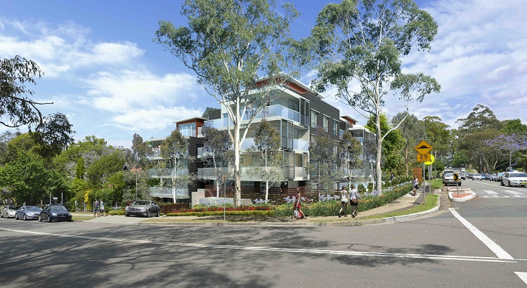 Preparation of Development Application for 5 storey Residential Development comprising 36 units and basement carparking Beecroft, NSW